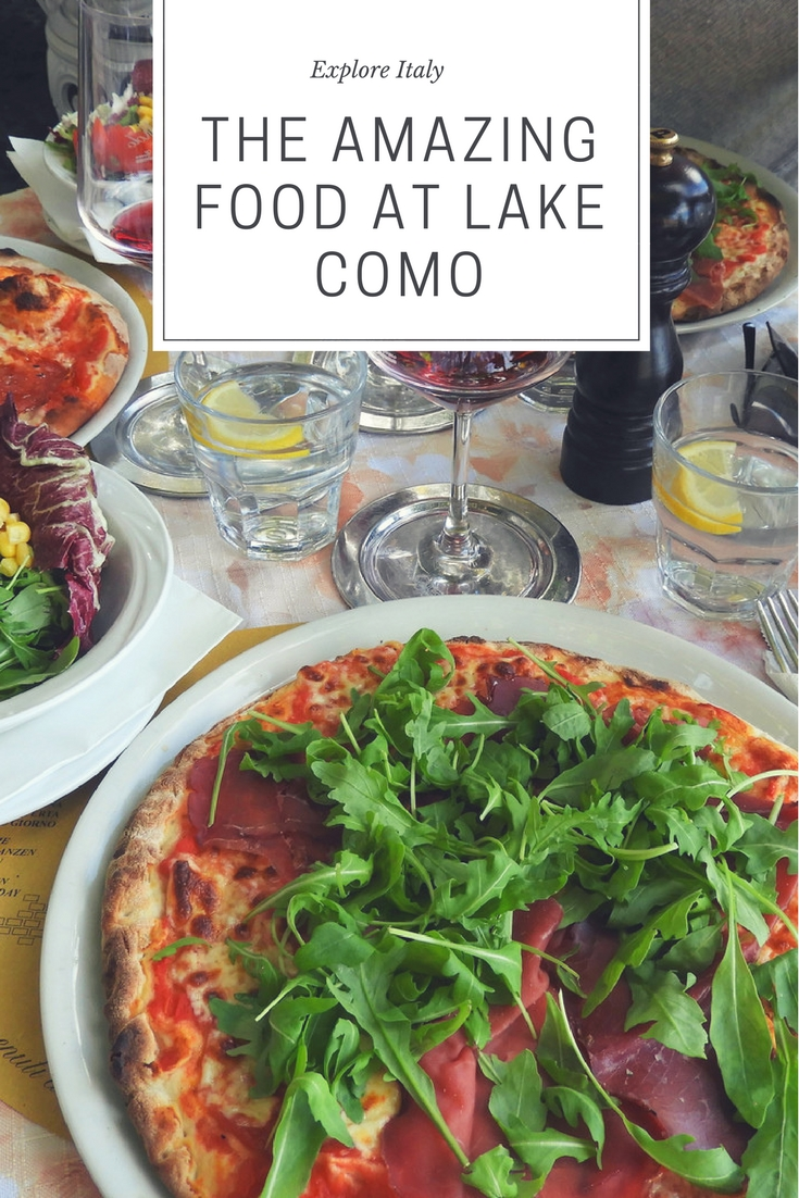 Food at Lake Como in Italy is amazing