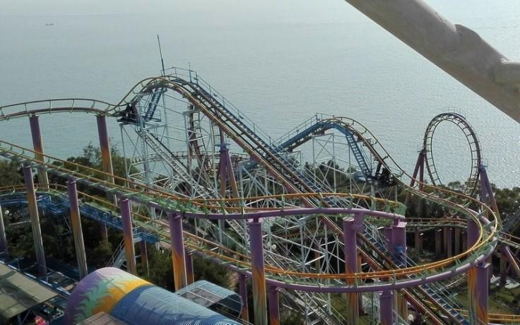 Roller-coaster at Ocean Park, Hong Kong