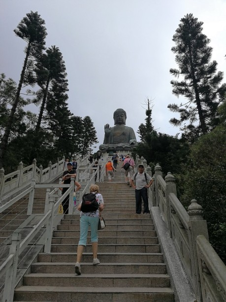 Stairs to Big Buddha in Ngong Ping