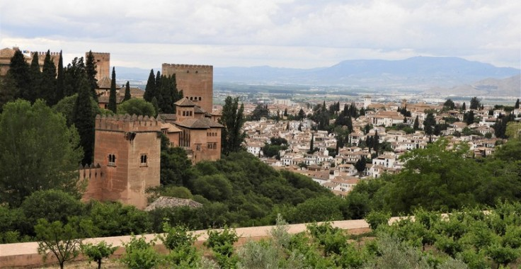 Views to Granada and the Alhambra from the Generalife
