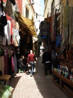 Streets full of shops in Tangier