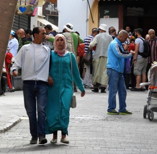 Local Moroccan people in Tangier