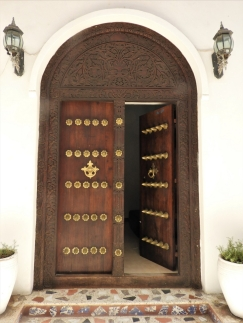 Arabic doors in the stone Town of Zanzibar