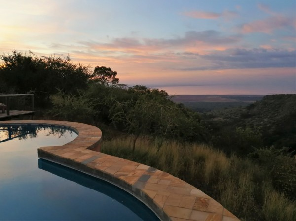 The pool at Escarpment Luxury Lodge