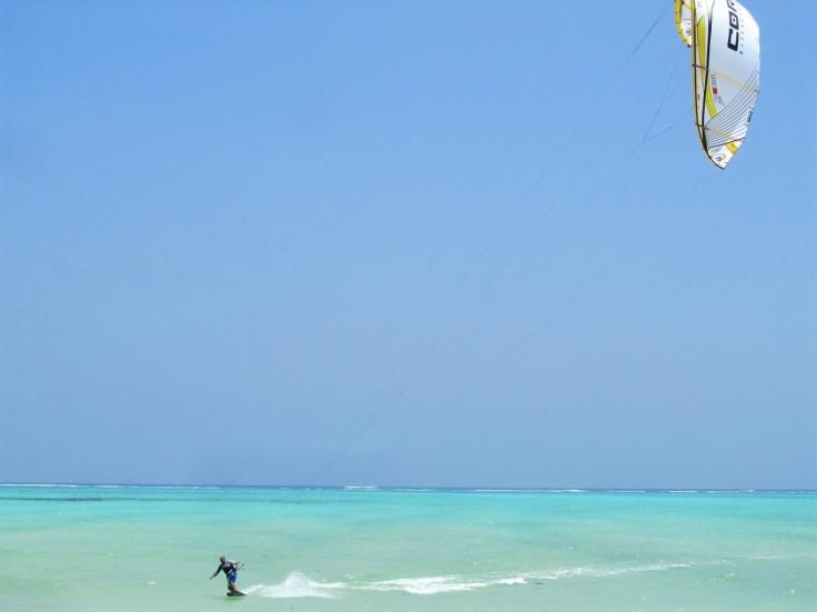 Kite boarding in Paje, Zanzibar