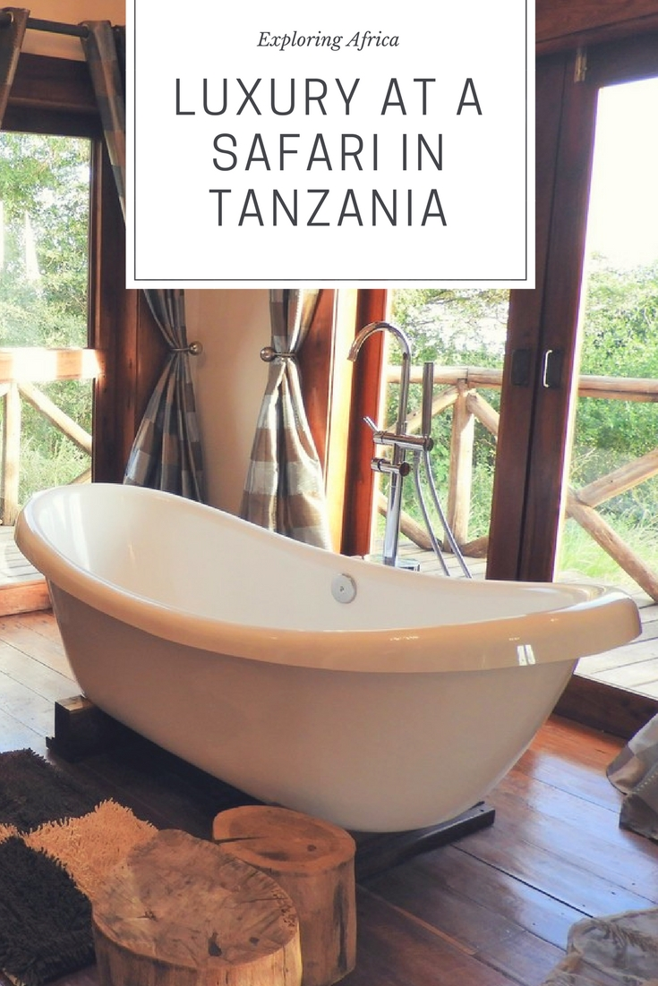 Luxury at a safari in Tanzania