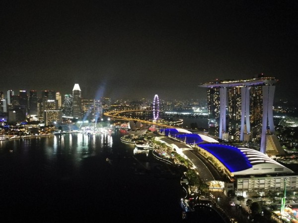 View from LeVel33 craft brewery & restaurant, Singapore