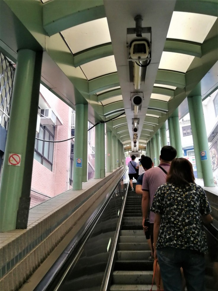Hong Kong - Midlevel escalators are a trademark of the city