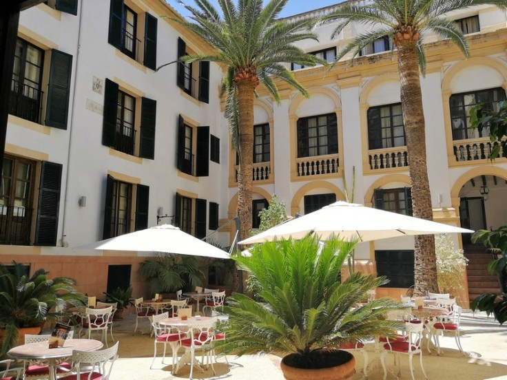 The courtyard of Hotel Born in Palma de Mallorca
