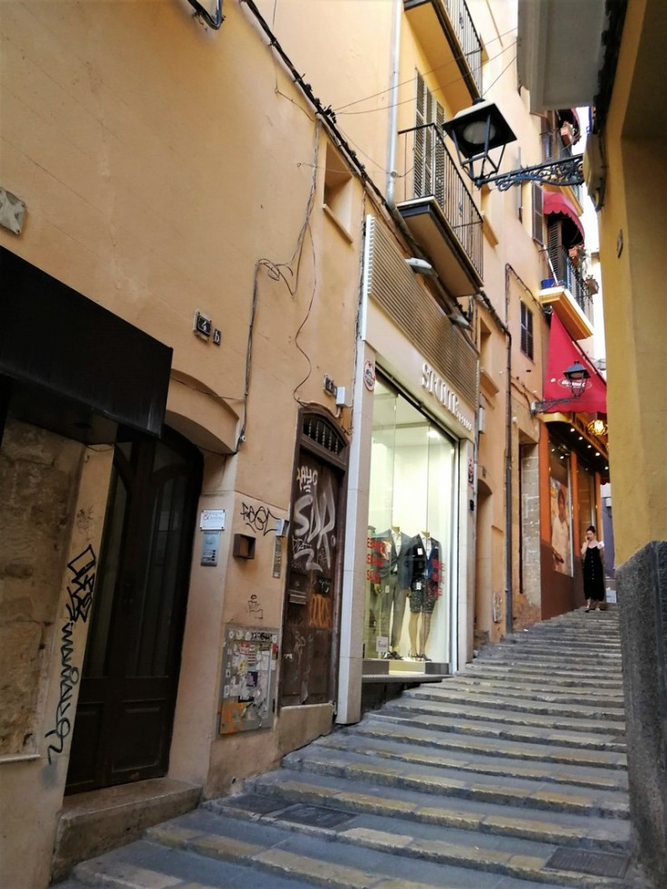 Streets of the Historic Center in Palma de Mallorca